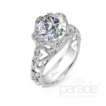 Parade Design 18k White Gold Diamond Engagement Ring - R2910