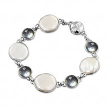 Honora Sterling Silver Pearl Bracelet - LB5695WHB