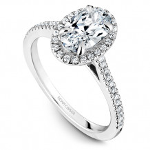 Noam Carver 14k White Gold Halo Diamond Engagement Ring - B094-03WM