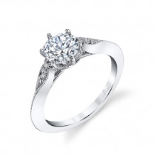 Parade Design 18k White Gold Diamond Engagement Ring - R3976