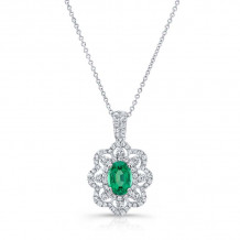 Kattan 18k White Gold High Quality Color Gemstone Necklace - APD02635