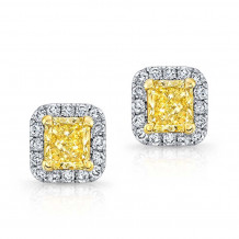 Kattan 18k White Gold La Vie en Yellow Stud Earrings - GDE2194Y50