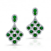 Kattan 18k White Gold High Quality Color Gemstone Earrings - LEFA19325