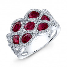 Kattan 18k White Gold High Quality Color Gemstone Ring - LRF074144