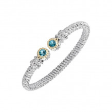 Alwand Vahan 14k Yellow Gold & Sterling Silver Blue Topaz Bracelet - 22139BT