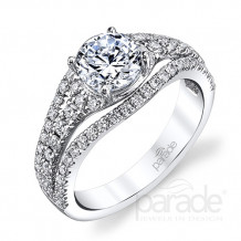 Parade Design 18k White Gold Diamond Engagement Ring - R3657