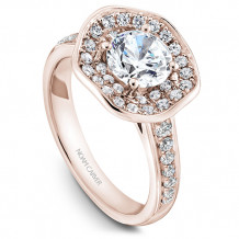 Noam Carver 14k Rose Gold Floral Diamond Engagement Ring - B014-05RM