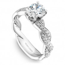 Noam Carver White Gold Twist Band Diamond Engagement Rings - B059-01WM