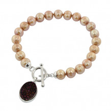 Honora Sterling Silver Freshwater Cultured Pearl Agate Bracelet - LB5638CH