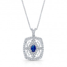 Kattan 18k White Gold High Quality Color Gemstone Necklace - APF02083
