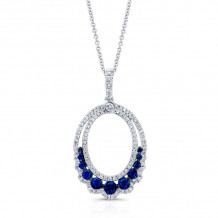 Kattan 18k White Gold High Quality Color Gemstone Necklace - APF04093