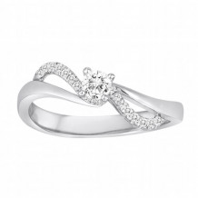 Diadori 18k White Gold Swirl Diamond Engagement Ring - DFWR8503-RD1.0W
