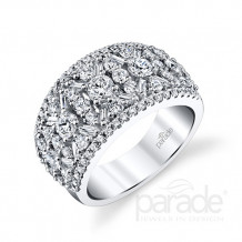 Parade Design 18k White Gold Diamond Ring - BD3208B