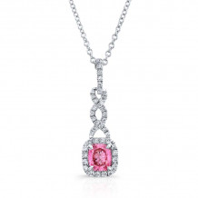 Kattan 18k White Gold La Vie en Rose Diamond Pendant - LPC09303P50