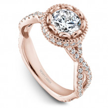 Noam Carver Rose Gold Twist Band Diamond Engagement Rings - R015-01RM