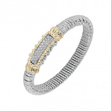Alwand Vahan 14k Yellow Gold & Sterling Silver Bar Design Bracelet - 22364D08