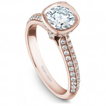 Noam Carver 14k Rose Gold Bezel Diamond Engagement Ring - B144-13RM