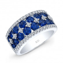 Kattan 18k White Gold High Quality Color Gemstone Ring - LRF082533