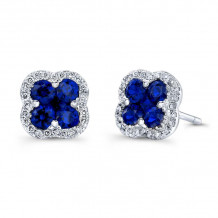 Kattan 18k White Gold High Quality Color Stud Earrings - AEF01263