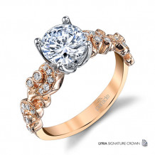 Parade Design 18k Rose Gold Diamond Engagement Ring - R3714