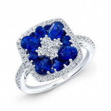 Kattan 18k White Gold High Quality Color Gemstone Ring - LRF104693