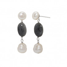 Honora Sterling Silver Freshwater Cultured Pearl Earrings - SE9836SEG