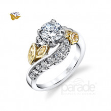 Parade Design 18k Two Tone Gold Diamond Engagement Ring - R3518