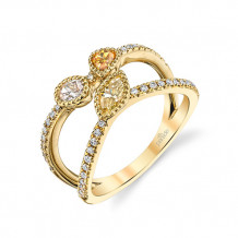 Parade Design 18k Yellow Gold Diamond Ring - BD4087A