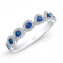 Kattan 18k White Gold High Quality Color Gemstone Ring - GDR66273