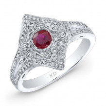 Kattan 18k White Gold High Quality Color Gemstone Ring - GDR69564