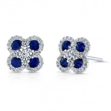 Kattan 18k White Gold High Quality Color Stud Earrings - AEF01663