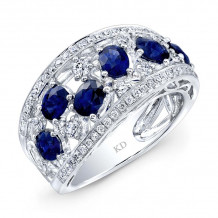 Kattan 18k White Gold High Quality Color Gemstone Ring - LRF100663