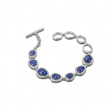 Elle Blue Lapis Bracelet with Toggle Clasp - B0222
