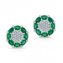 Kattan 18k White Gold High Quality Color Stud Earrings - LEF034625
