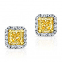 Kattan 18k White Gold La Vie en Yellow Stud Earrings - AED0145Y200
