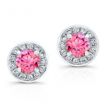Kattan 18k White Gold La Vie en Rose Stud Earrings - LEDA0842P85