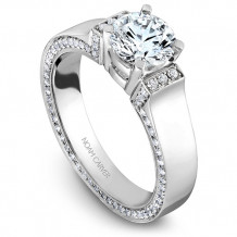 Noam Carver 14k White Gold Modern Diamond Engagement Ring - B042-03WM