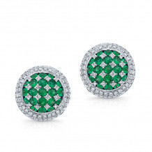 Kattan 18k White Gold High Quality Color Stud Earrings - LEFA03495
