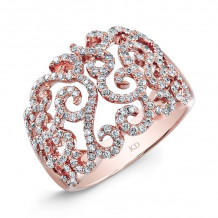 Kattan 18k Rose Gold Fashion Diamond Ring - OR559629